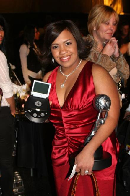 Chandra Wilson showing off her eMotion