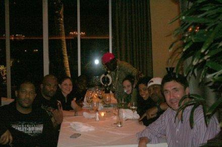 Erik, DMC, Ward, Flav, Sammii, Gaye, Chuck D and Norm - Dinner at Hard Rock
