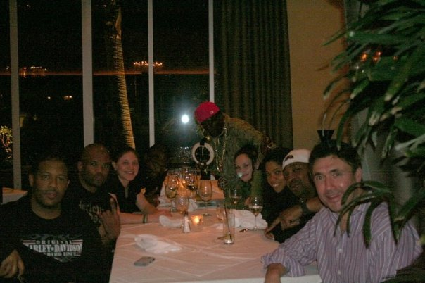 Erik, DMC, Ward, Flav, Sammii, Gaye, Chuck D and Norm - Dinner at Hard Rock