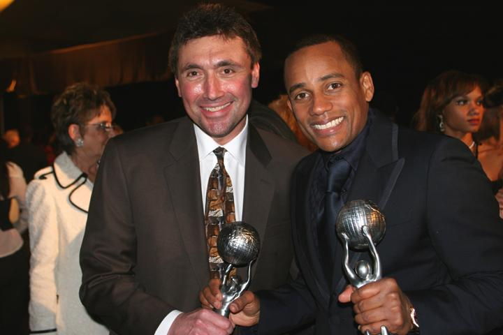 Hill Harper and Norm Levy