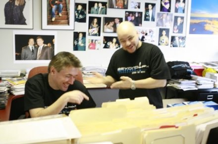 DJ Johnny Juice Rosado and Norm Levy - Cracking up as usual