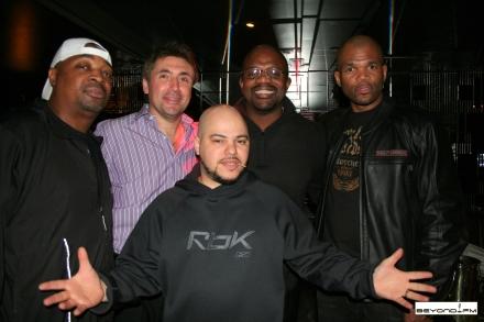 Chuck D, Norm Levy, Ward Alston, DMC & Johnny Juice